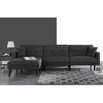 Wagenen Sectional Upholstery: Dark Gray