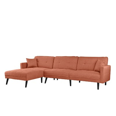 Wagenen Sectional Upholstery: Orange