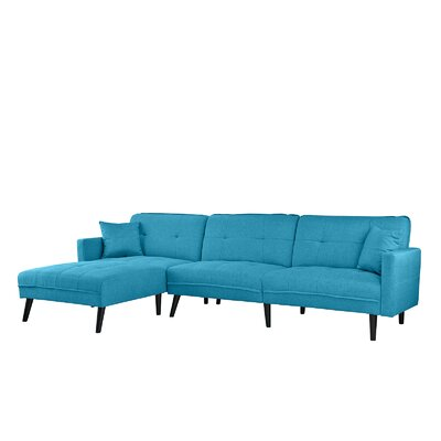 Wagenen Sectional Upholstery: Sky Blue