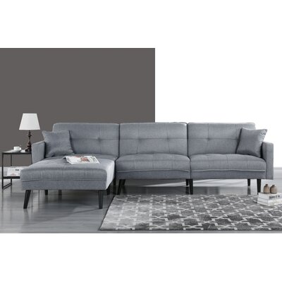 Wagenen Sectional Upholstery: Light Gray