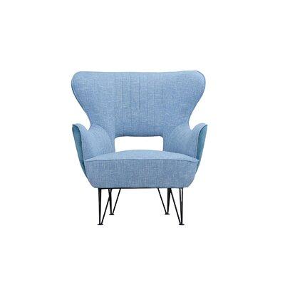 Alverson Armchair Upholstery: Blue/Blue Green