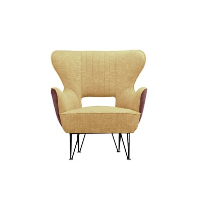 Alverson Armchair Upholstery: Yellow/Brown
