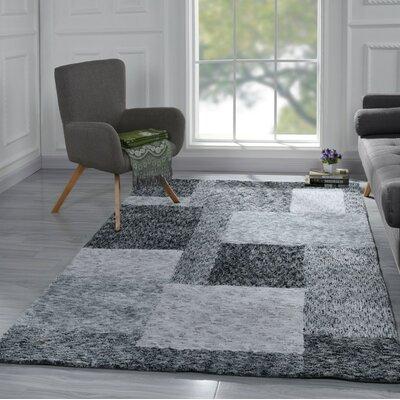 Harrill Contemporary Geometric Black/Gray Area Rug