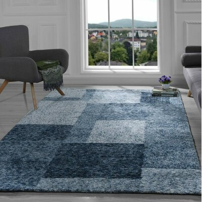 Harrill Geometric Blue Area Rug