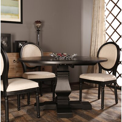 Alvar Round Kitchen Dining Table Color: Black
