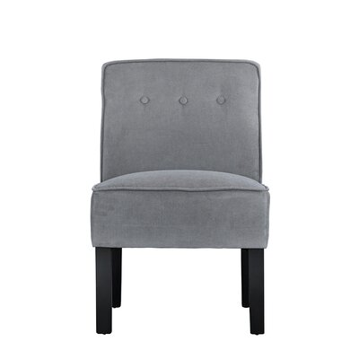 Branch Modern Sleek Linen Living Room Side Chair Upholstery: Gray