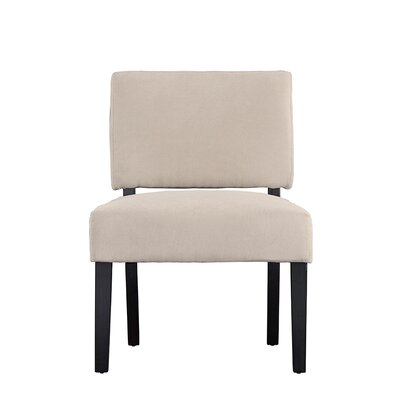 Branchdale Contemporary Sleek Linen Side Chair Upholstery: Beige