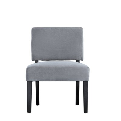 Branchdale Contemporary Sleek Linen Side Chair Upholstery: Gray
