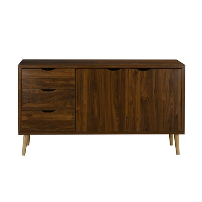 Waites Wooden 59 TV Stand Color: Brown
