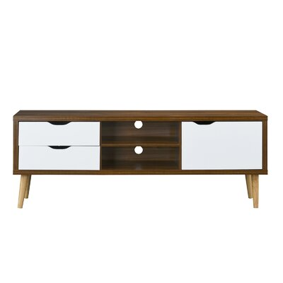 Wakeman 59 TV Stand Color: Brown/White
