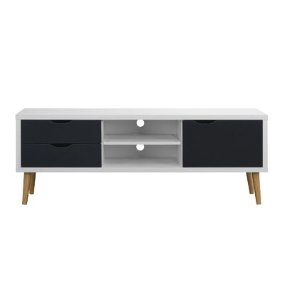 Wakeman 59 TV Stand Color: White/Dark Gray
