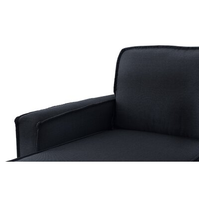 Brzozowski Modern Small Space Sectional Upholstery: Dark Gray