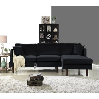 Eide Sectional Upholstery: Black