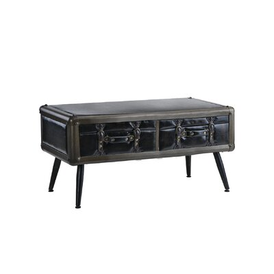 Marshall Entryway Pu Leather Upholstered Coffee Table with Storage