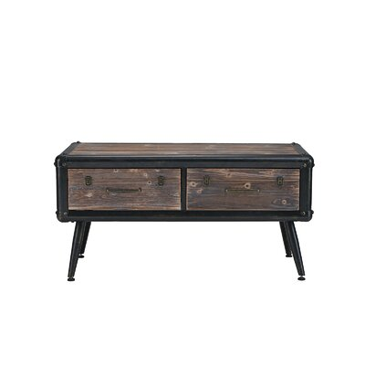 Glenwood Entryway Wooden Chest Coffee Table with Storage