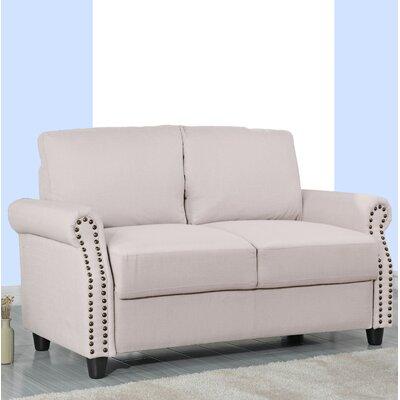 Senduk Classic Linen Standard Loveseat Upholstery: Beige