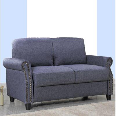 Senduk Classic Linen Standard Loveseat Upholstery: Blue