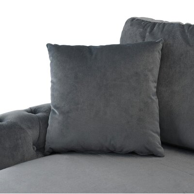 Karbach Classic Space Brush Sectional Upholstery: Gray
