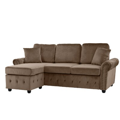 Karbach Classic Space Brush Sectional Upholstery: Hazelnut