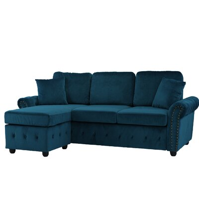 Karbach Classic Space Brush Sectional Upholstery: Dark Blue
