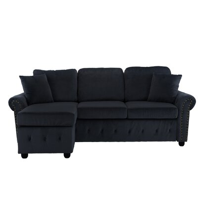 Karbach Classic Space Brush Sectional Upholstery: Black