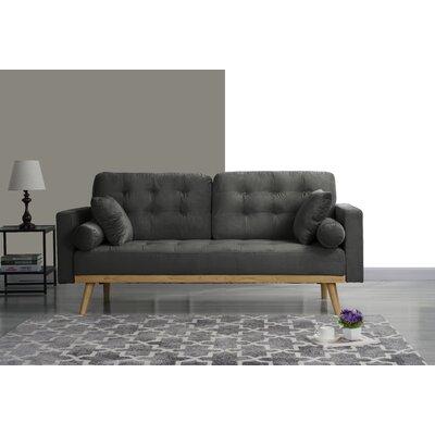 Seagle Mid Century Modern Sofa Upholstery: Dark Gray