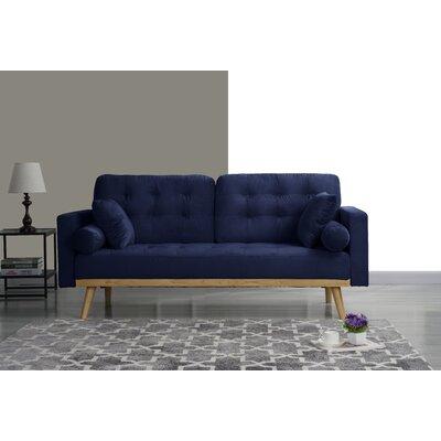 Seagle Mid Century Modern Sofa Upholstery: Navy