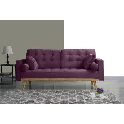 Seagle Mid Century Modern Sofa Upholstery: Purple