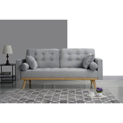 Seagle Mid Century Modern Sofa Upholstery: Light Gray