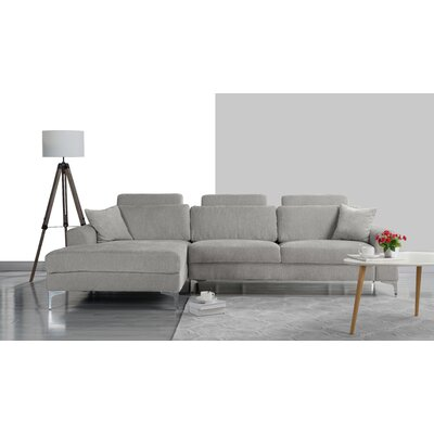 Seaman Modern Large Sectional Upholstery: Light Gray