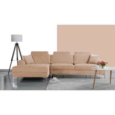Seaman Modern Large Sectional Upholstery: Champagne