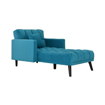 Searcy Modern Chaise Lounge Upholstery: Blue