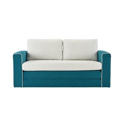 DaPrato Modular Convertible Sleeper Upholstery: Blue/Beige