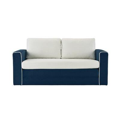 DaPrato Modular Convertible Sleeper Upholstery: Navy/Beige