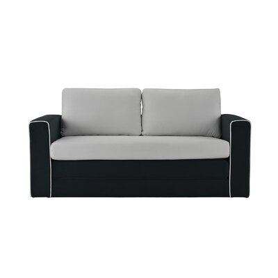 DaPrato Modular Convertible Sleeper Upholstery: Black/Light Gray