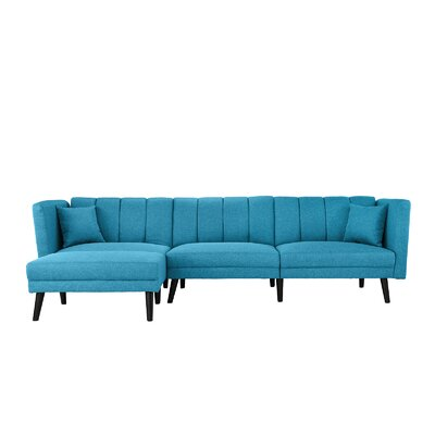 Searle Sleeper Sectional Upholstery: Sky Blue