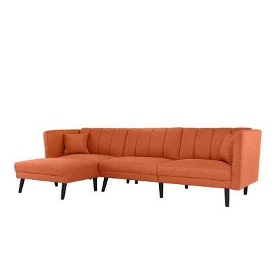 Searle Sleeper Sectional Upholstery: Orange