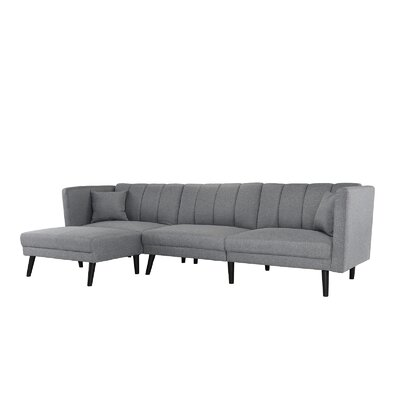Searle Sleeper Sectional Upholstery: Light Gray