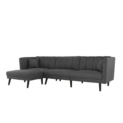 Searle Sleeper Sectional Upholstery: Dark Gray