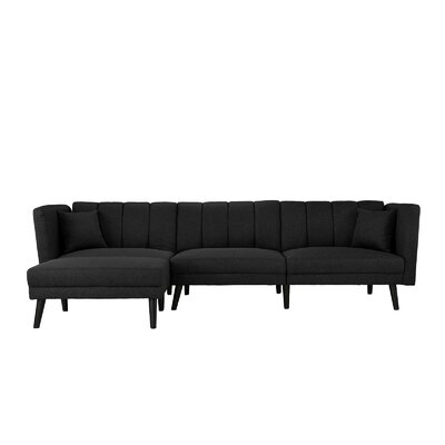 Searle Sleeper Sectional Upholstery: Black