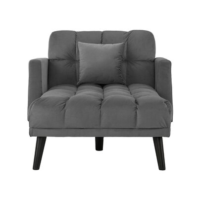 Searcy Modern Chaise Lounge Upholstery: Dark Gray