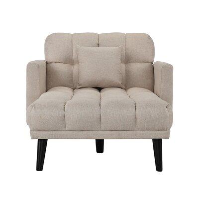 Searfoss Modern Single Chaise Lounge Upholstery: Beige