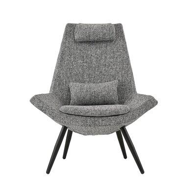 Sease Modern Linen Living Room Lounge Chair Upholstery: Light Gray