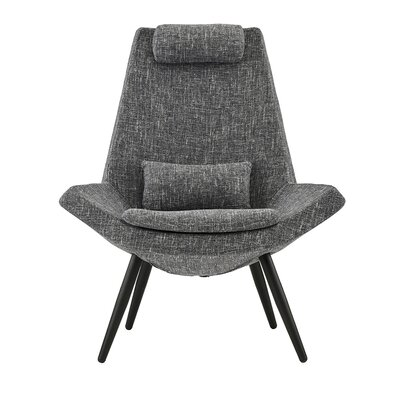 Sease Modern Linen Living Room Lounge Chair Upholstery: Gray
