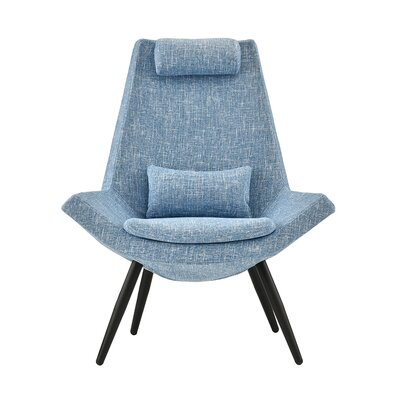 Sease Modern Linen Living Room Lounge Chair Upholstery: Light Blue