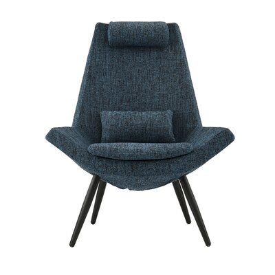 Sease Modern Linen Living Room Lounge Chair Upholstery: Dark Blue
