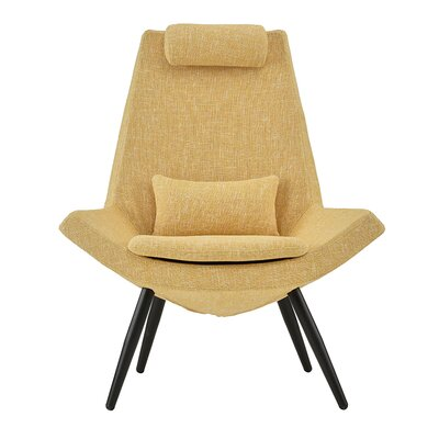 Sease Modern Linen Living Room Lounge Chair Upholstery: Yellow