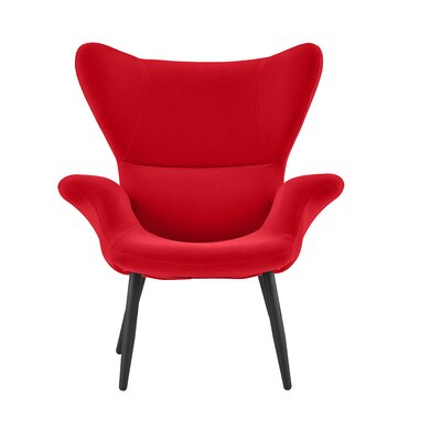 Justinich Contemporary Lounge Chair Upholstery: Red