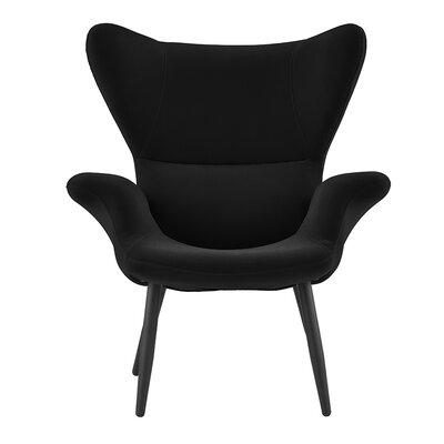 Justinich Contemporary Lounge Chair Upholstery: Black