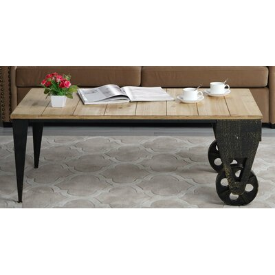 Brassfield Classic Wood Plank Coffee Table